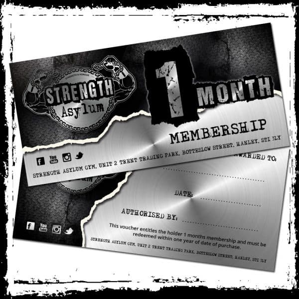 1 month membership voucher